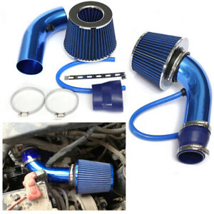 Car Cold Air Intake Filter Intake Alumimum Induction Kit Pipe Hose System Blue