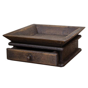 New Primitive Country Rustic Aged Wood Drawer Shelf Tray Organizer Holder Box