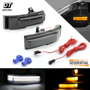 Smoke Sequential Led Side View Mirror Turn Signal Light For 2015 2018 Ford F 150