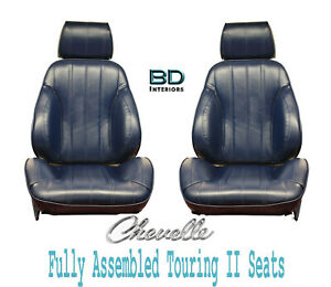 1966 Chevelle El Camino Touring Ii Front Bucket Seats Assembled