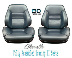 1967 Chevelle El Camino Touring Ii Front Bucket Seats Assembled