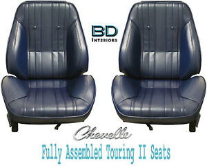 1969 Chevelle El Camino Touring Ii Front Bucket Seats Assembled