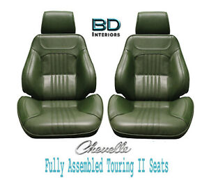 1971 72 Chevelle El Camino Touring Ii Front Bucket Seats Assembled