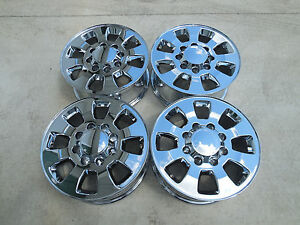 18 Chevy Silverado 8x6 5 Gmc Sierra 2500hd Factory Wheels Chrome Plated