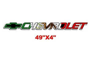 Mexico Flag Chevy Sticker Vinyl Decal Silverado Window Bed Tailgate Lettering