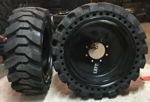 4 Tires With Wheels 33x12 20 12 16 5 Solid Skid steer Loader Tire 331220