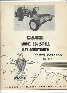 Original Oem Oe 04 1962 Case 226 2 Roll Hay Conditioner Parts Catalog No 827