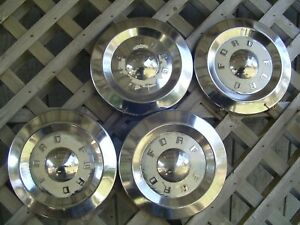 Vintage Antique Ford 57 58 59 Fairlane Thunderbird T Bird Hubcaps Center Caps