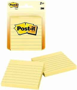 Post it Notes 3 X 3 Canary Yellow Lined 100 Sheets pad 395556