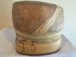 Wooden Block Square Pill Box Millinery Wood Block Hat Making Form Mold Brim