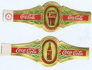 ORIGINAL Coca Cola 1930 set of 2 cigar bands bottle and glass  Scarce