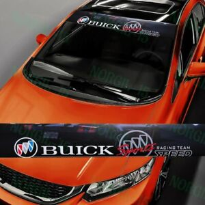 For Buick Front Window Windshield Black Vinyl Banner Decal Sticker Buick 53 X 8