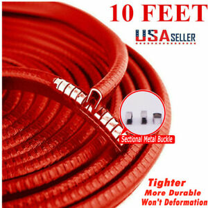 10ft Red Car Door Trim Rubber Moulding Edge Sealer Guard Strip Scratch Protector