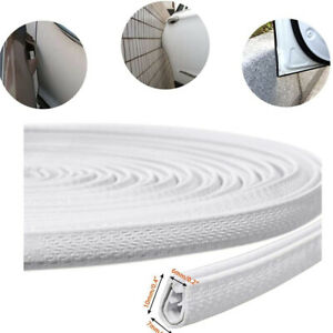 10ft Car Door Trim Edge Guard Rubber Moulding Seal Strip Scratch Protector White