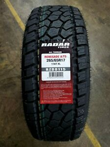 265 65r17 Radar Renegade A t5 All terrain 116t Xl set Of 4