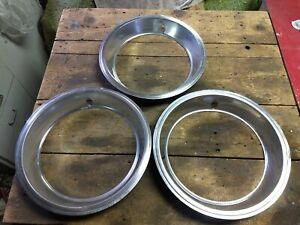 Lot Of 3 Stainless Beauty Trim Rings Wheel Trim Ford Chevy Dodge Gm