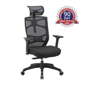 Clatina Ergonomic Mesh Executive Chair For Home Office Adjustable Swivel Chair