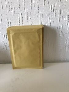 10 Small Gold Padded Bubble Lined Envelopes Mail Cheap Brown Yellow 150 215mm