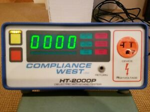 Compliance West Ht 2000p Ac Output Hipot Ground Continuity Tester