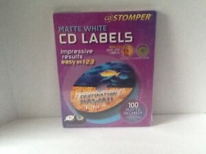 Cd Stomper Matte White Labels Dual Use Full Face Or Standard Center 100 Spine
