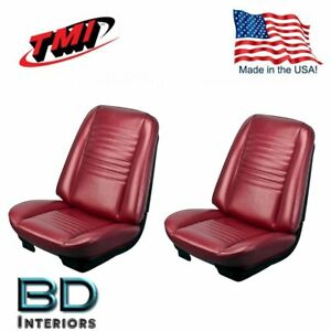 1967 Chevy Chevelle Malibu Front Rear Seat Upholstery Red Made In Usa By Tmi