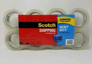 3m Scotch Shipping Packaging Tape Heavy duty 20x Stronger 1 88x54 6yd 4 8 Rolls