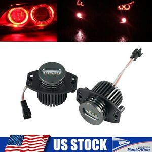2x Angel Eyes Red Led Halo Ring Marker Light Bulb Fit For Bmw E90 E91 328i 09 12