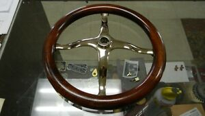 Model T Ford Brass Speedster Steering Wheel Spider With Finished Mahogany Rim