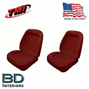 Sport Bucket Seat Upholstery 1967 1968 Camaro Front Set Red Includes Foam
