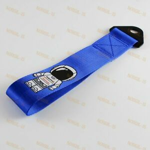 Blue Front Or Rear Bumper Tow Towing Strap For Jdm Asimo Race High Strength Hook