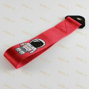 Red Front Rear Bumper Jdm Asimo Racing High Strength Tow Strap For Honda Fits