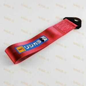 Red Car Tow Towing Strap Belt Jdm Spoon Sports Type One Racing Drift Hook X1