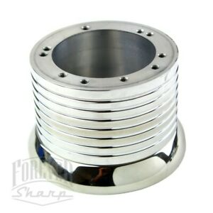 Polished Billet Steering Wheel Adapter 5 6 Hole For 1995 2002 Chevy Trucks