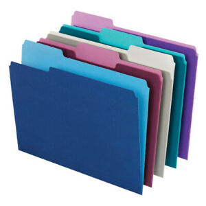 Office Depot Top Tab Color File Folders 1 3 Cut Letter Size 100 pack