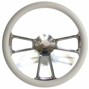 Hot Rod Street Rod Steering Wheel Billet And Gray Fits Many Gm Columns