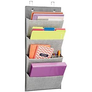 Mdesign Over The Door Fabric Office Supplies Storage Organizer For Notebooks