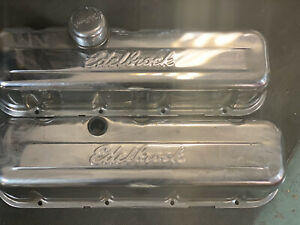 Edelbrock Bbc Valve Covers With Breather Slight Rust On Sides