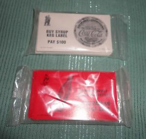 COCA-COLA MONOPOLY CARDS 1999 SEALED Community Chest Santa and Chance Polar Bear