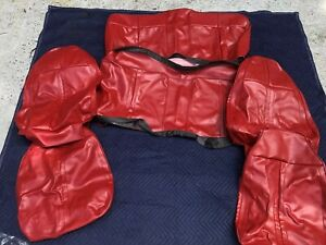 New Red 1971 Cuda Barracuda Convertible Front Rear Seat Cover Upholstery Set
