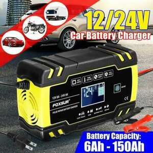 Car Jump Starter Emergency 12v 24v Power Bank Battery Charger With Lcd Display