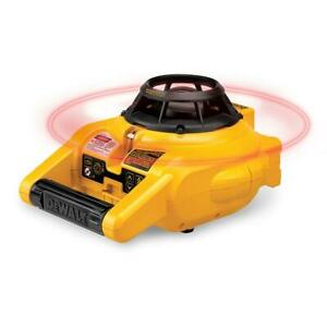 Dewalt 150 Ft Red Self leveling Rotary Laser Level With Detector