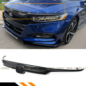 For 18 2020 10th Honda Accord Lx Ex Touring Carbon Fiber Look Sport Front Grille