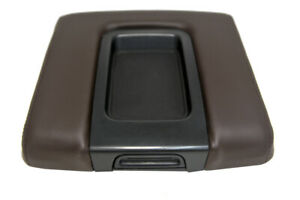 Console Lid Armrest Leather Cover For Chevy Silverado 2014 2020 Cocoa