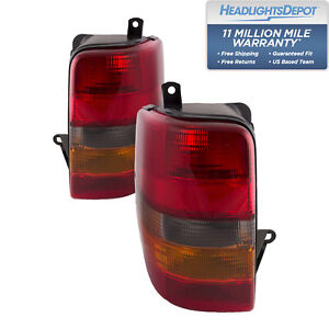 Tail Lights Set Left Right Pair Fits Jeep Grand Cherokee 93 98