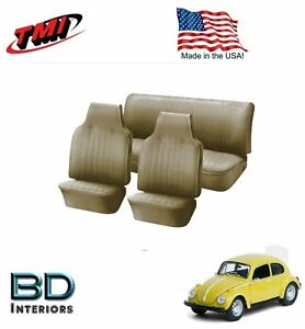 1968 1969 Vw Volkswagen Bug Beetle Slip On Seat Upholstery Beige In Stock