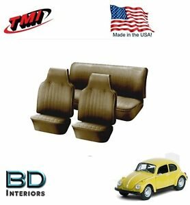 1968 1969 Vw Volkswagen Bug Beetle Slip On Seat Upholstery Tan In Stock