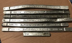 Lot Of 7 Pure Tin Bars (National Lead Co.) $65.00