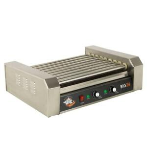 Hot Dog Roller Grill Machine Electric Commercial 289 Sq Inch Stainless Steel New