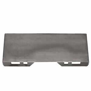 1 2 Thick Skid Steer Mount Plate Adapter Loader Quick Tach Attachment
