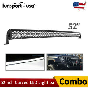 50 inch 288w Curved Led Light Bar Combo Offroad Roof Light For Truck Atv 50 52